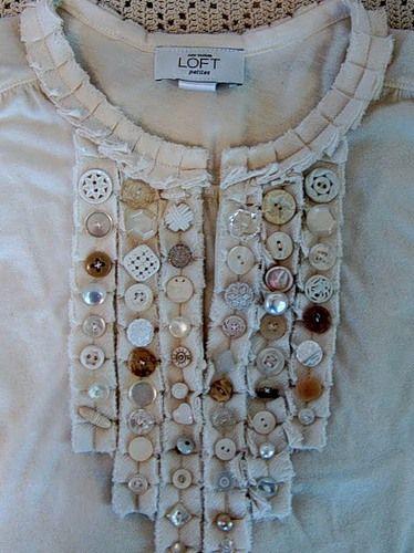 Декор одягу - кофточка в стилі вінтаж