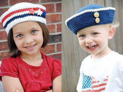 Дитяча шапка моряка - панамка гачком від люсінди шефер