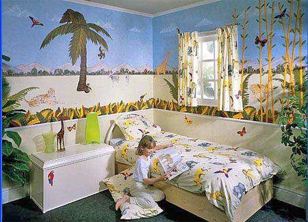 Джунглі в інтер`єрі дитячої кімнати