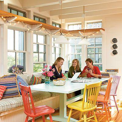 Ідея для кухні з високими стелями