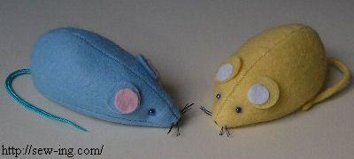 Іграшки своїми руками - мишка з фетру - форма і майстер клас