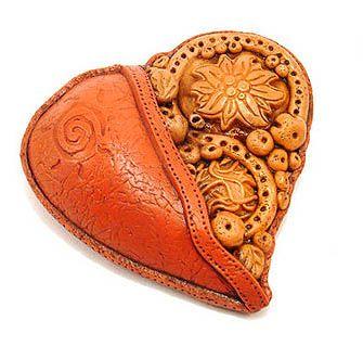 Як ліпити кулон серце з полімерної глини - пластики