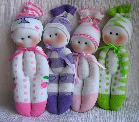 Як зробити ляльки з шкарпеток своїми руками - майстер клас