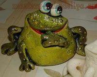Вироби з солоного тіста - жаба