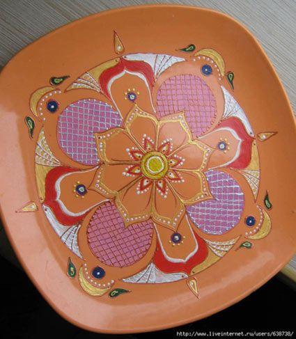 Розпис тарілок акриловими фарбами