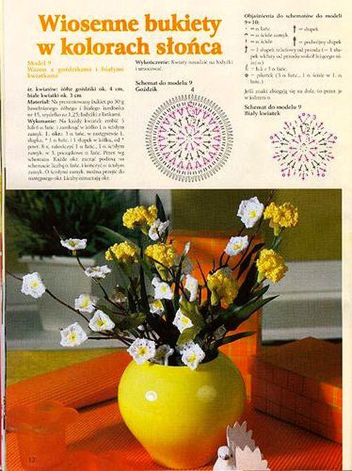 схема квіти гачком