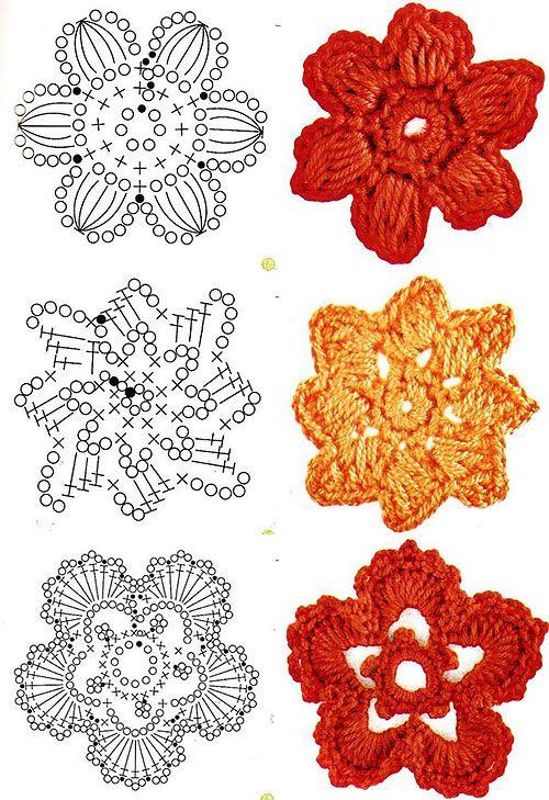 Квіти гачком зі схемами в`язання
