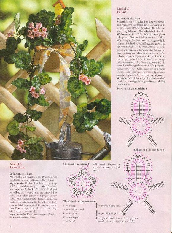 Схема в`язання квітки фуксія гачком