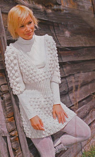 Симпатичне плаття з шишечками - в`язання спицями