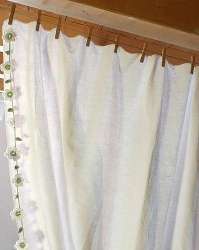 в`язаний гачком декор своїми руками штори