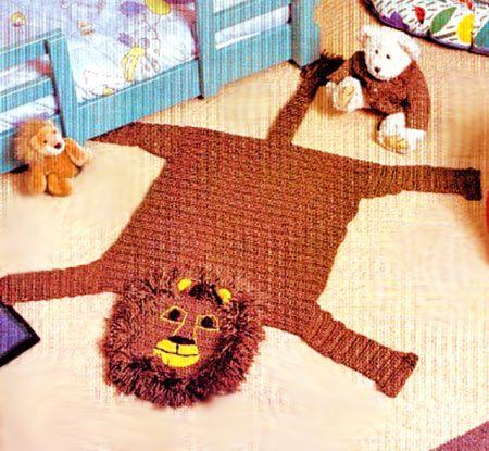 В`язаний килимок гачком в дитячу